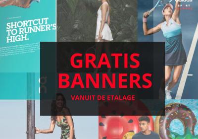 Gratis banners vanuit de etalage