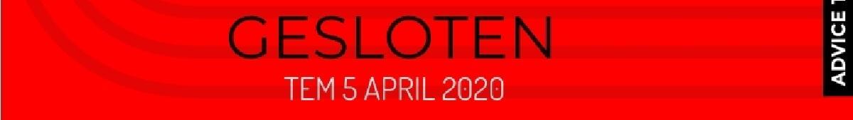 Gesloten tem 5 april
