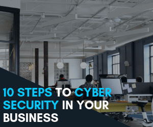 10 steps to cyber security Blog Summary Images