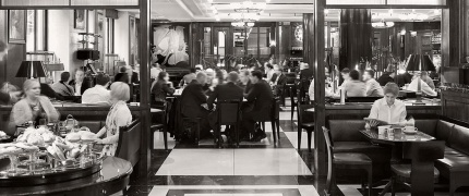 Customers Eating at The Delaunay