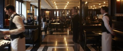 The Delaunay Restaurant main with staff