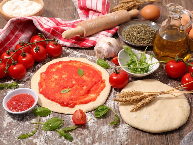 Gli ingredienti di una pizza made in Italy!