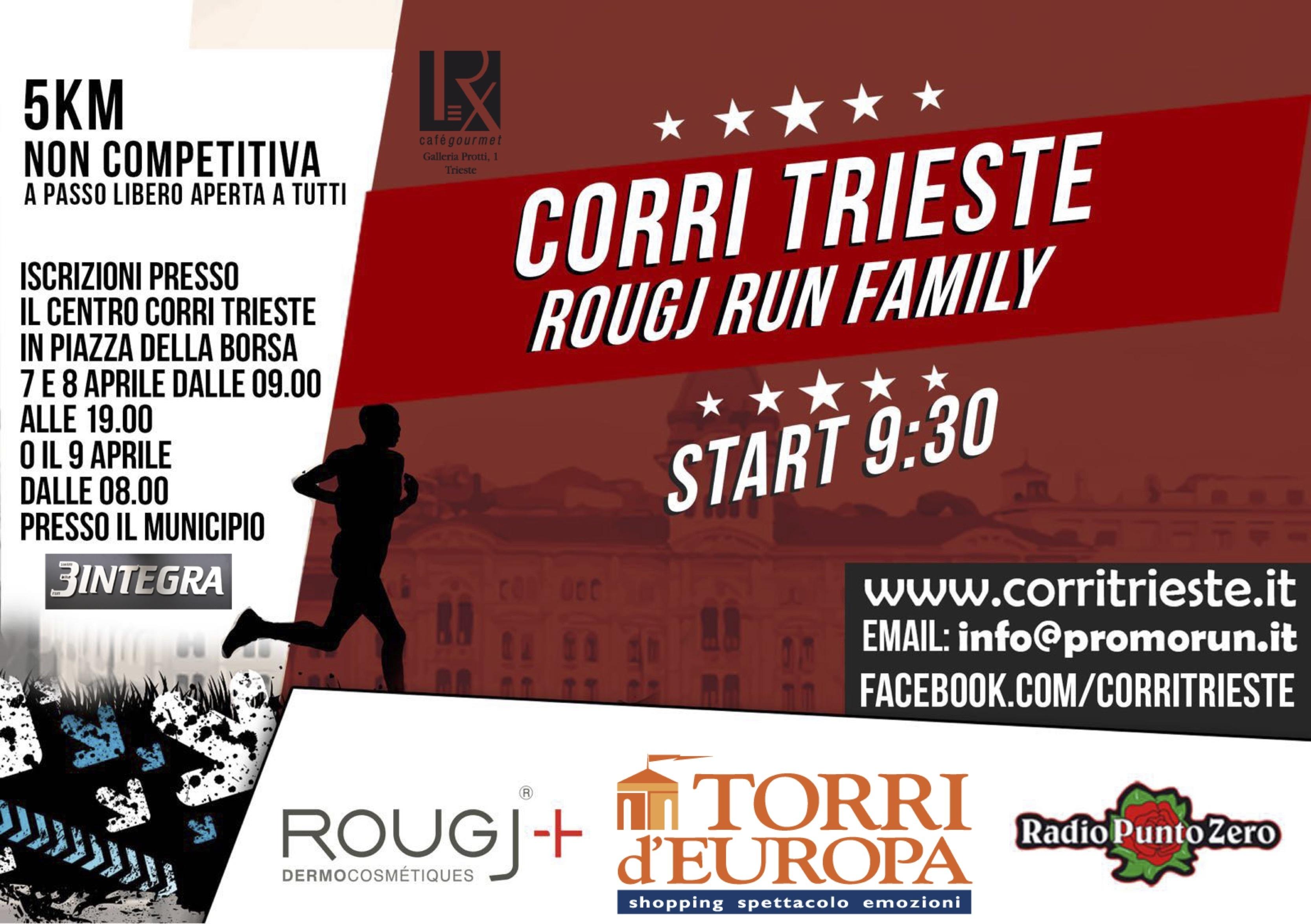Partecipa alla Rougj Family Run di Trieste!