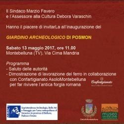 Inaugurazione giardino archeologico di Posmon!