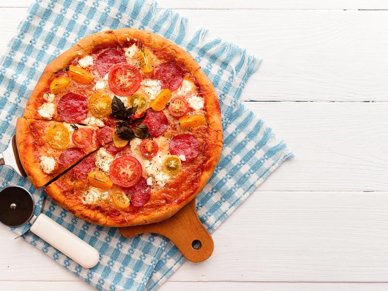 Una pizza!
