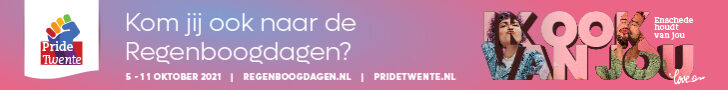 Leaderbord Campagne PRIDE Enschede Online banner 728 x 90 px