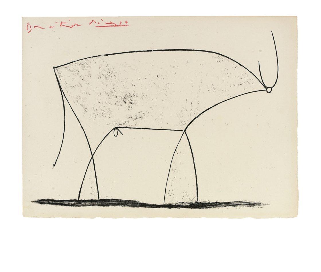 Pablo Picasso Der Stier 1946 Pablo Picassomuseum MC3 B Cnster 11 35hxq4357u