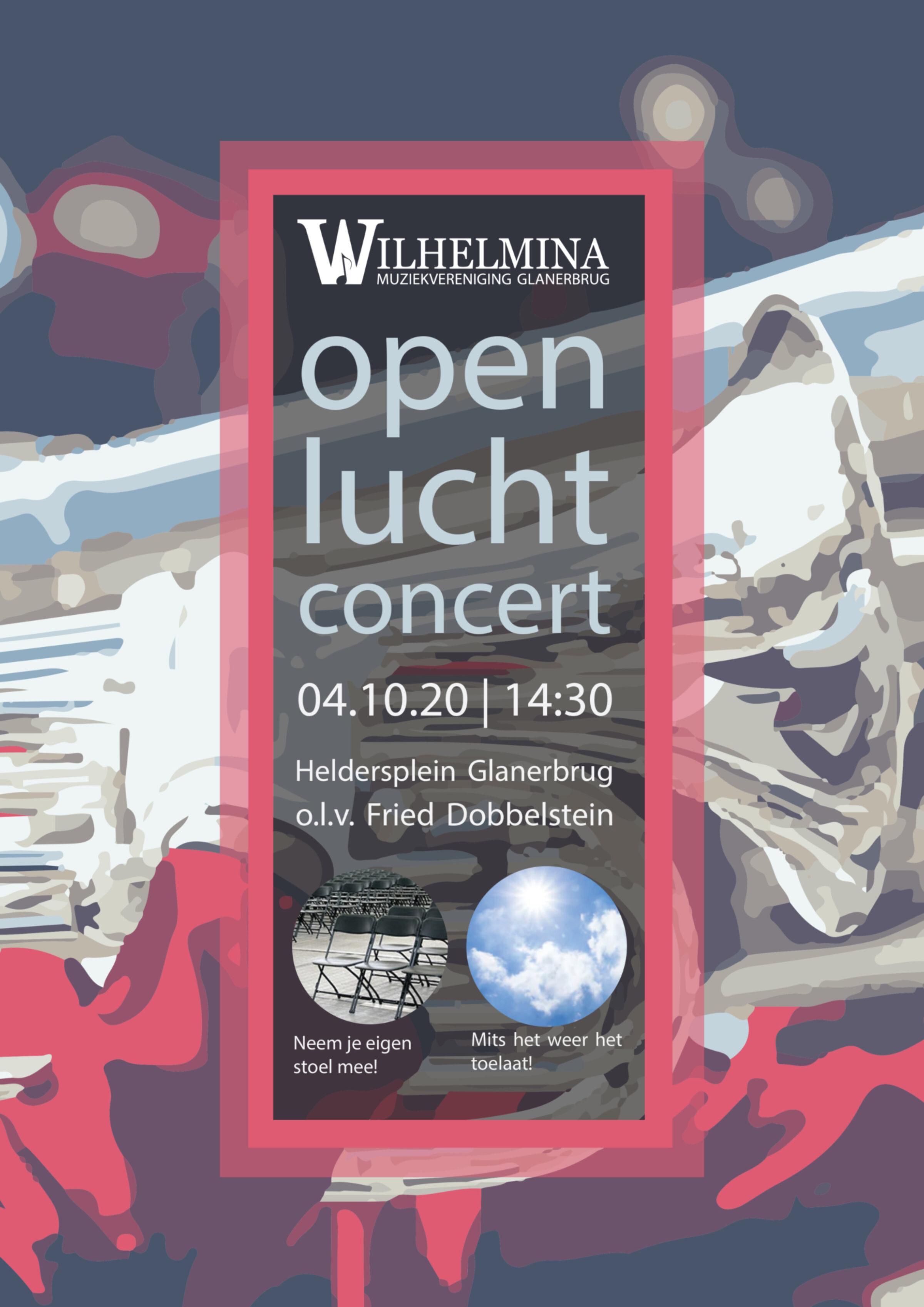 Drukexemplaar poster Openlucht Concert 04