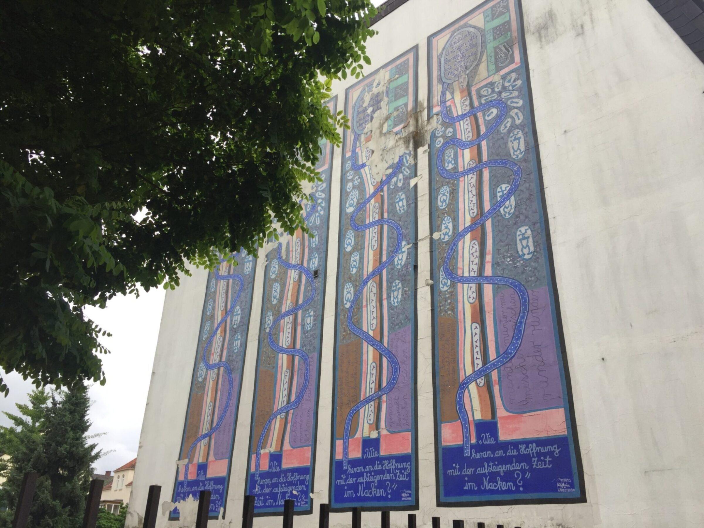 Muurschildering Alte Synagogenstrasse Osnabruck