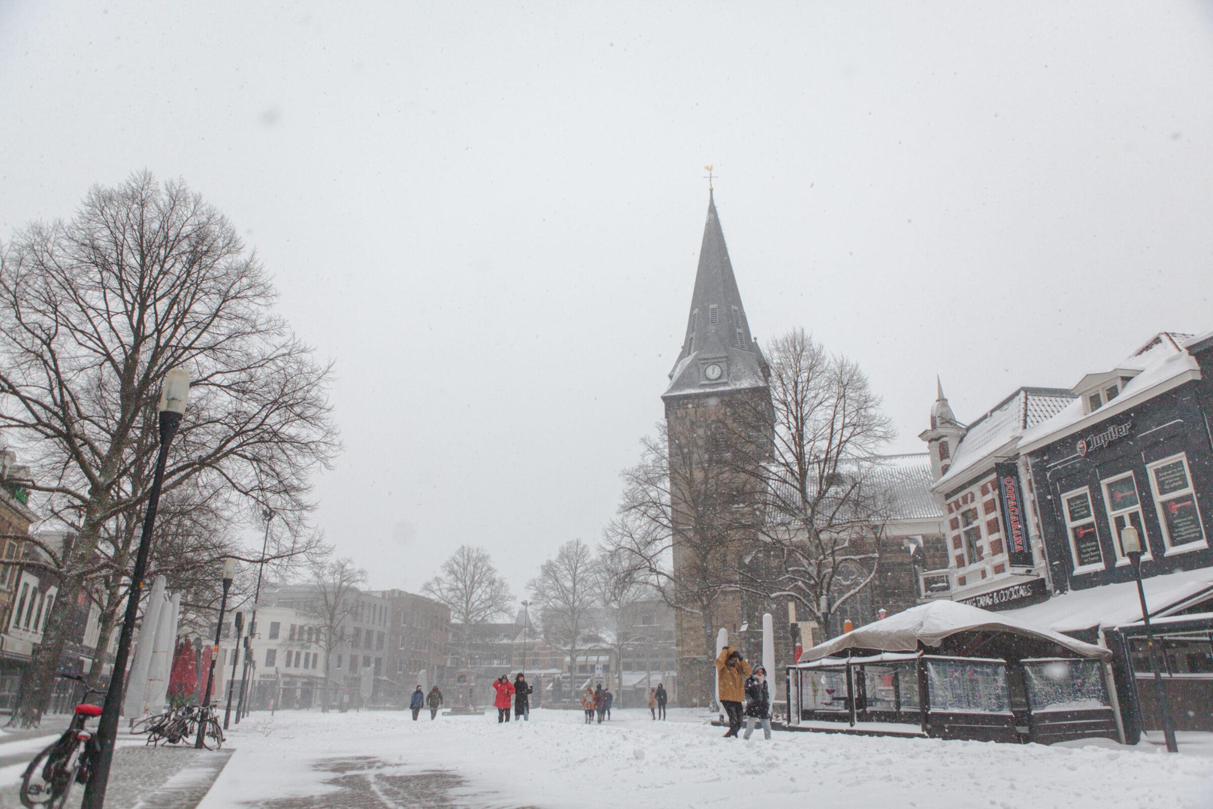 Oude Markt winter Enschede
