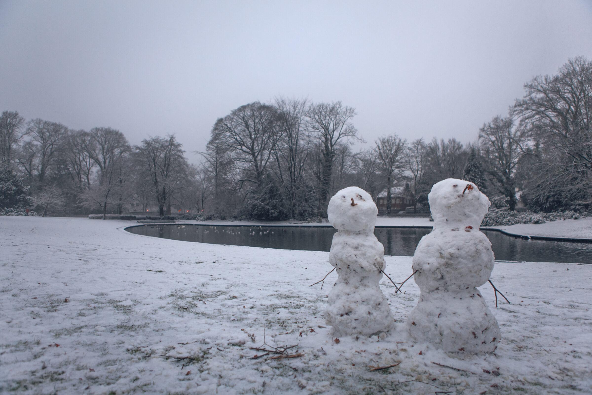 Sneeuwpoppen in Enschede