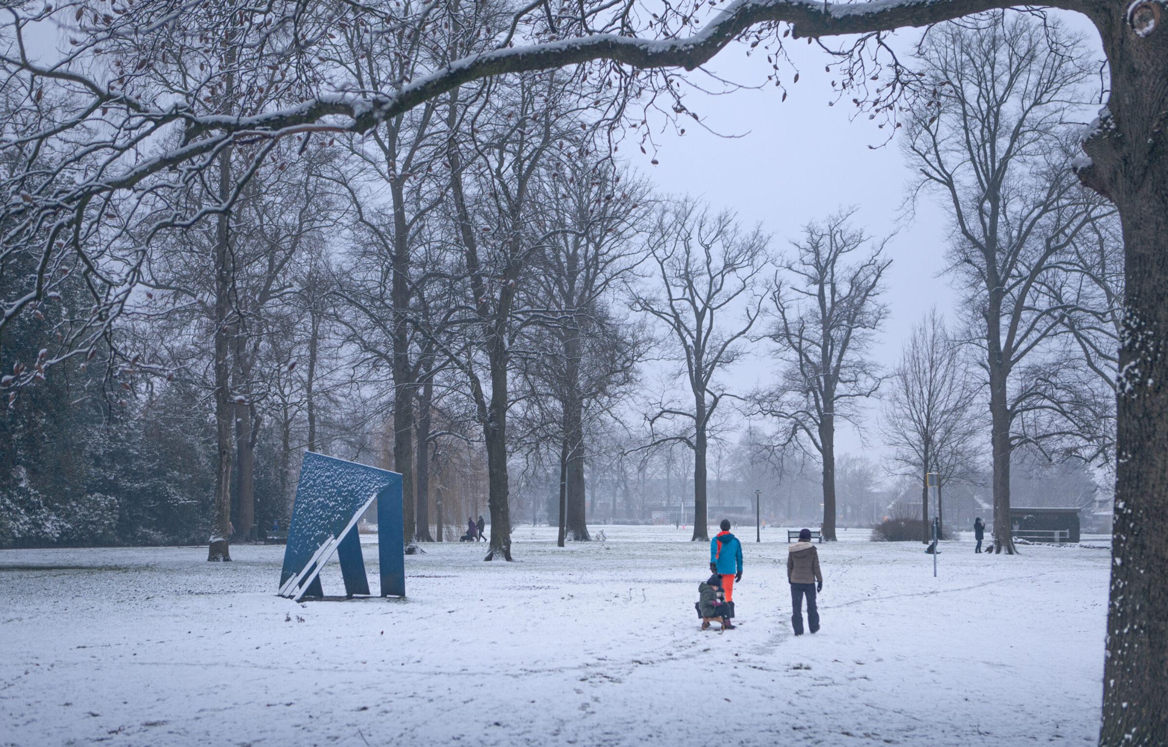 Sneeuwpret in Enschede