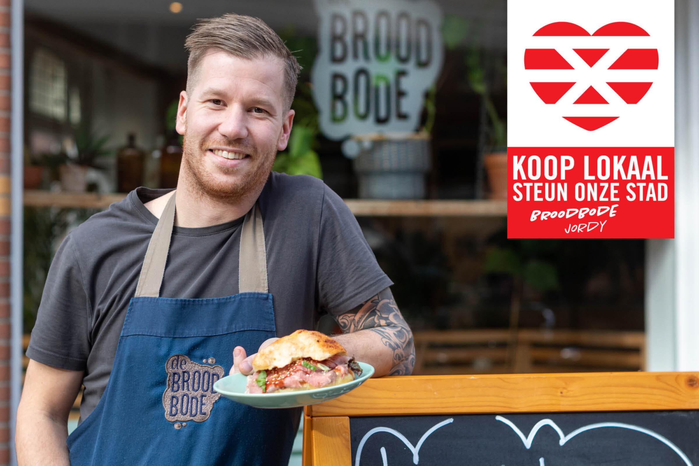 Steun onze stad Koop lokaal Enschede Broodbode Jordy