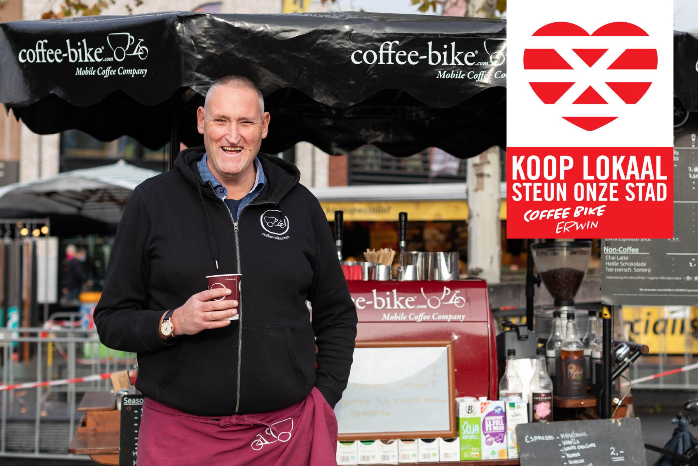 Steun onze stad Koop lokaal Enschede Coffee Bike Erwin