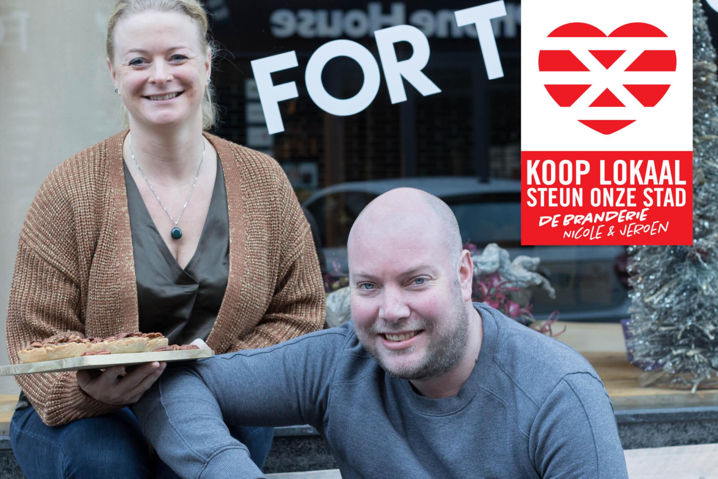 Steun onze stad Koop lokaal Enschede De Branderie Nicole Jeroen
