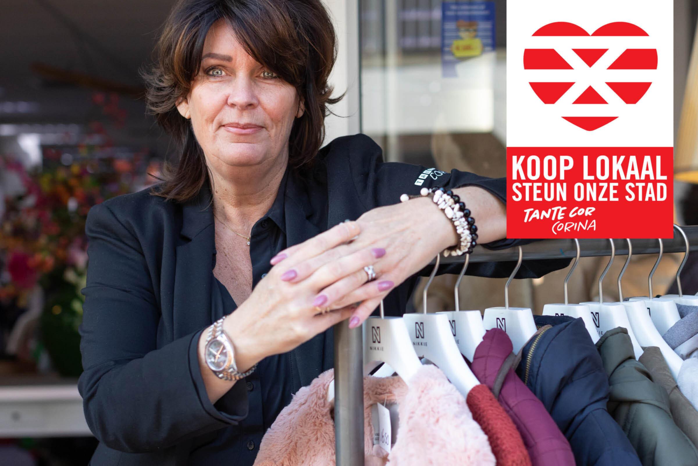 Steun onze stad Koop lokaal Enschede Tante Cor Corina