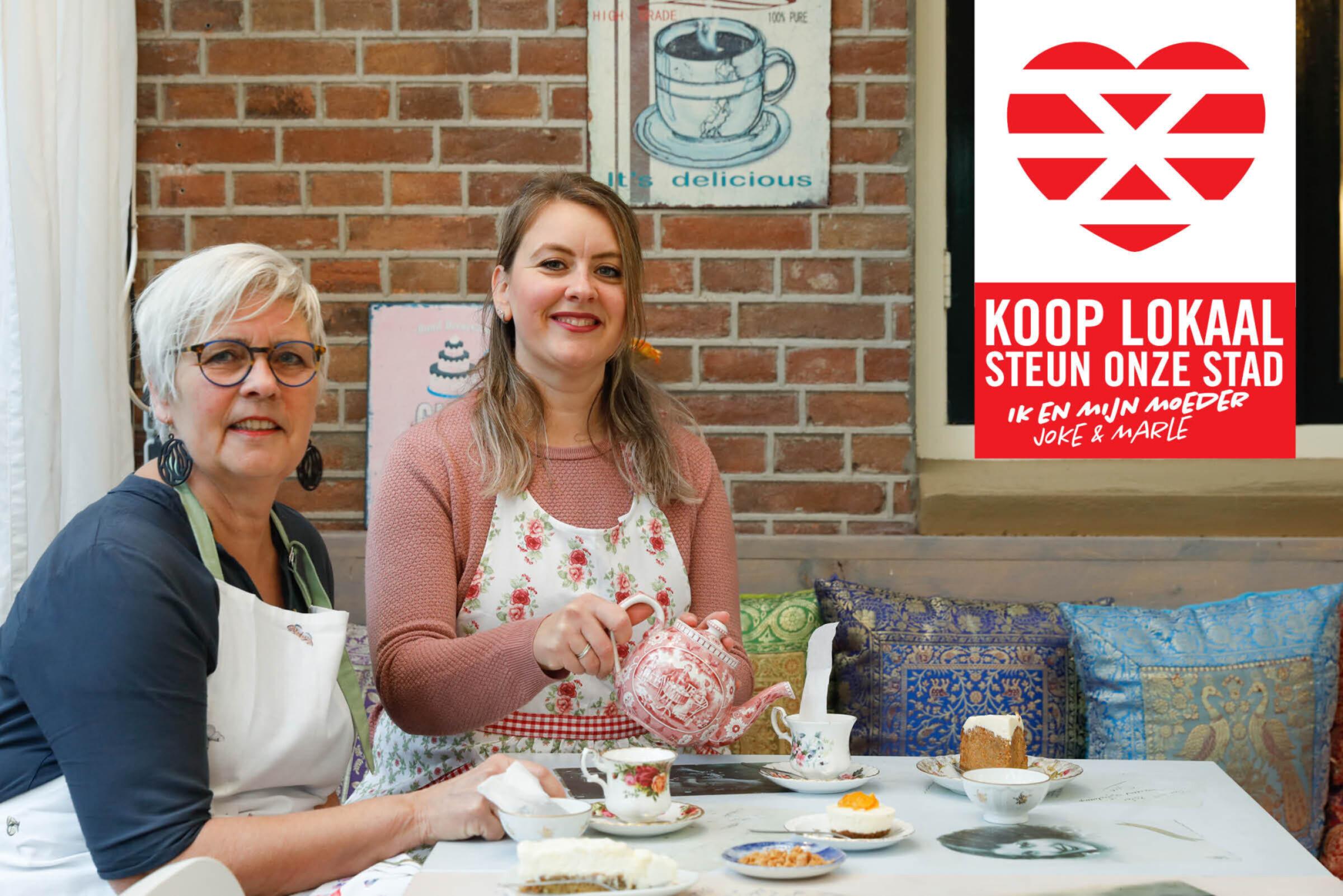 Steun onze stad Koop lokaal Enschede Theetuin Ik Mijn moeder Joke Marle