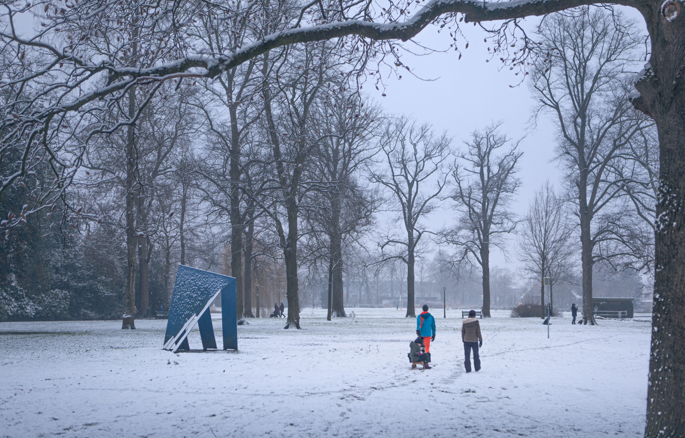Volkspark sneeuw