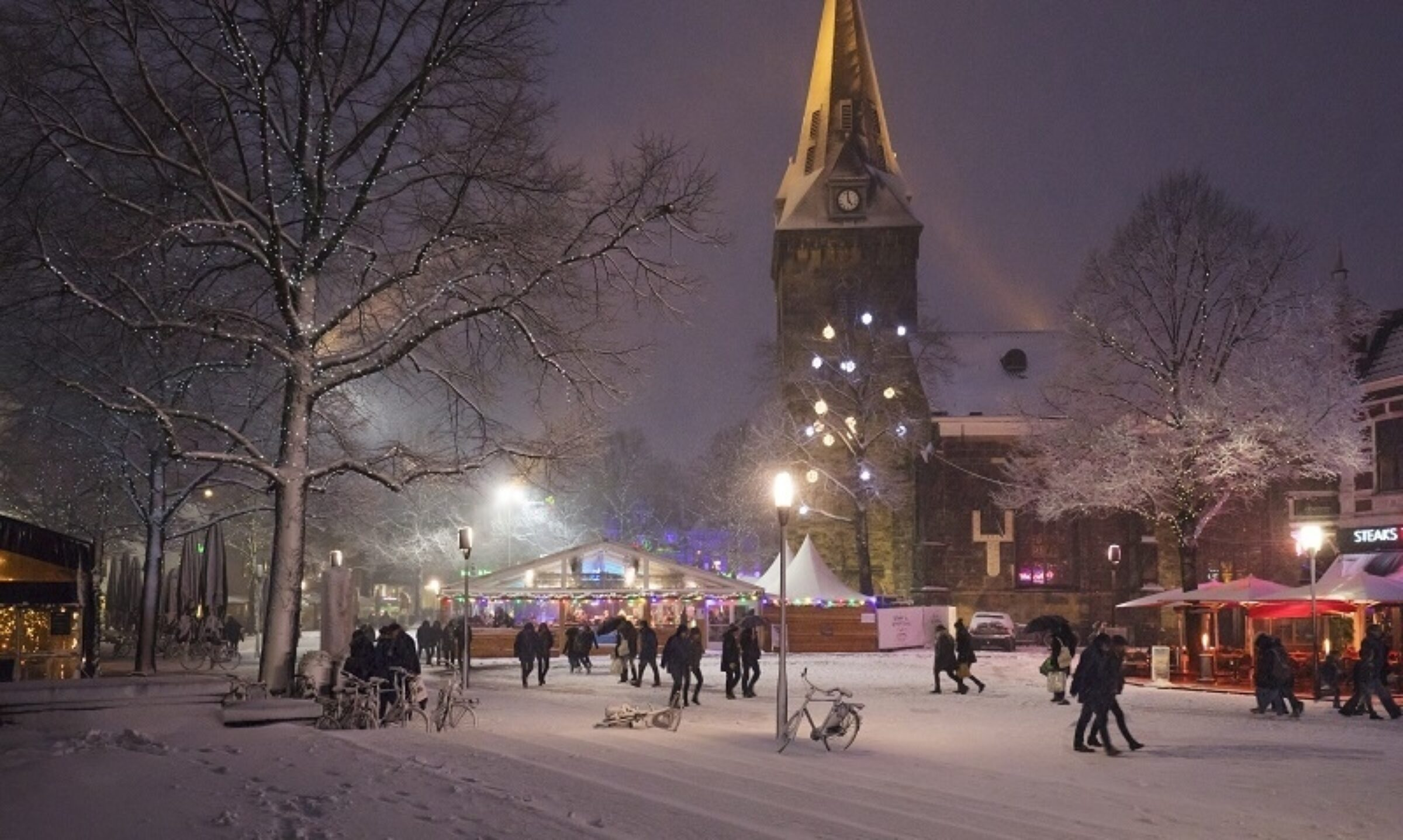 Winter Wonderland Oude Markt Enschede
