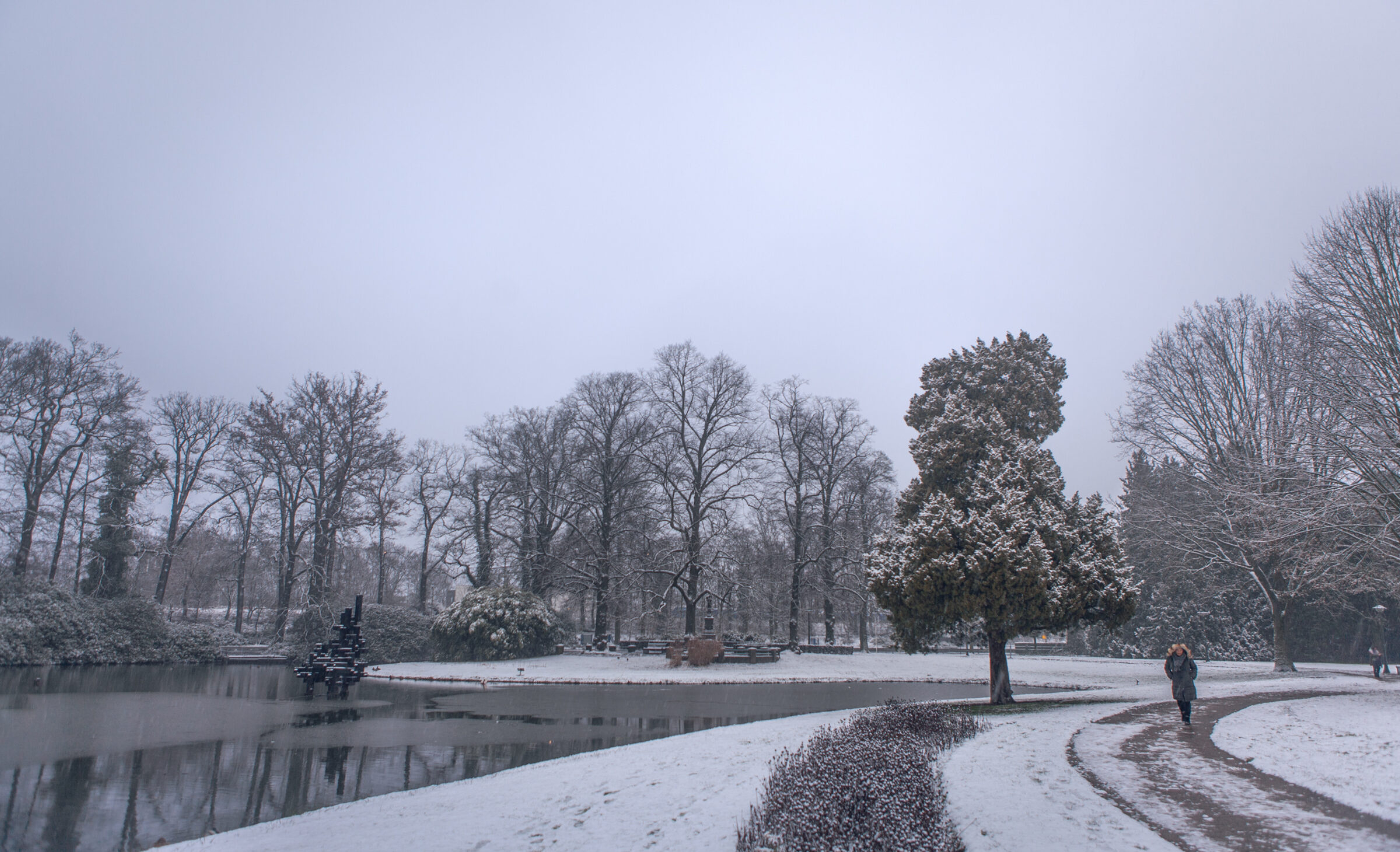 Winterpret in Enschede