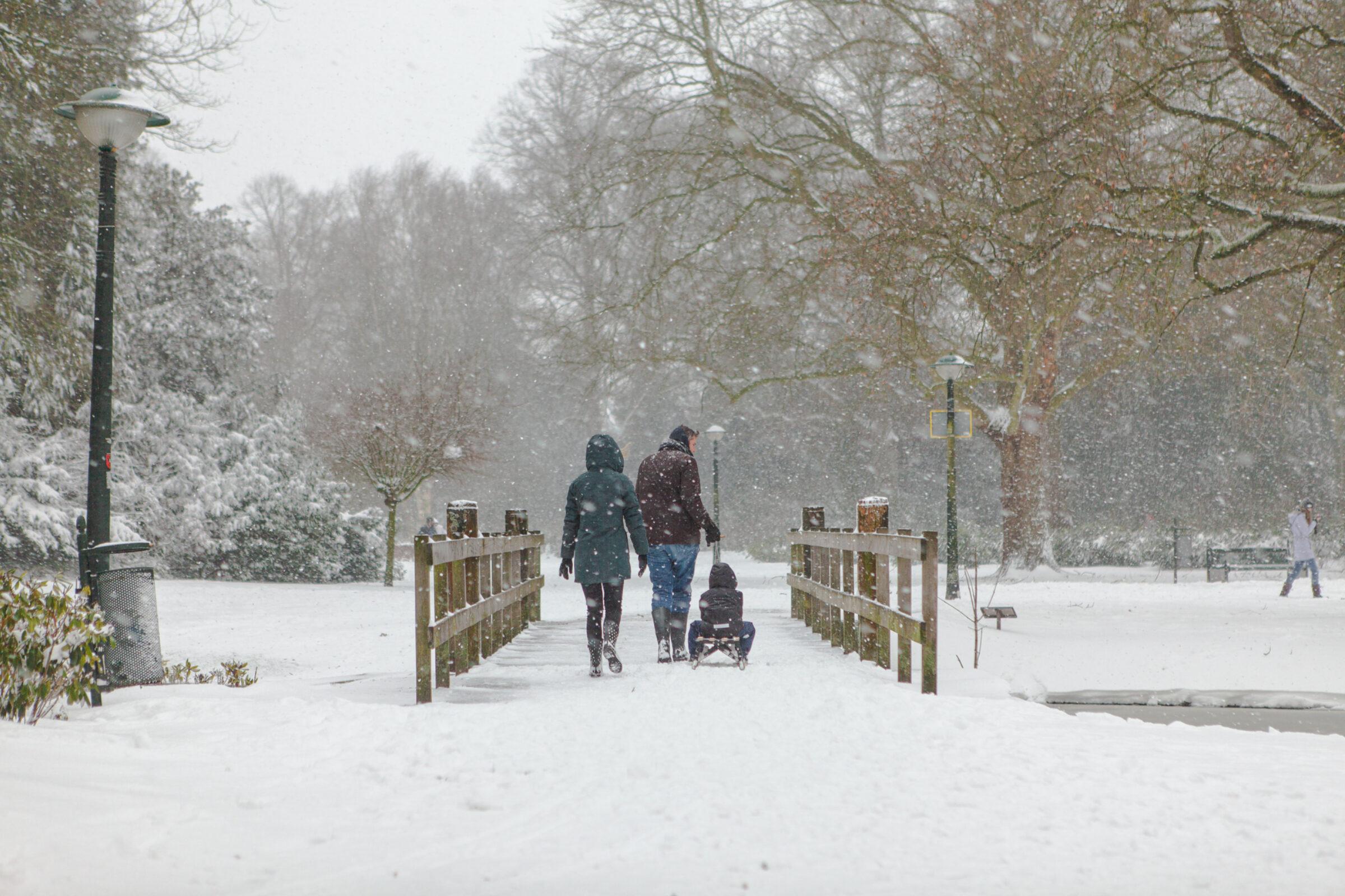 Volkspark Enschede in de sneeuw