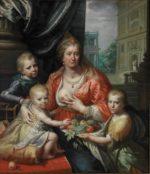 Paulus Moreelse Sophia Hedwig En Haar Drie Kinderen 1621 Paleis Het Loo
