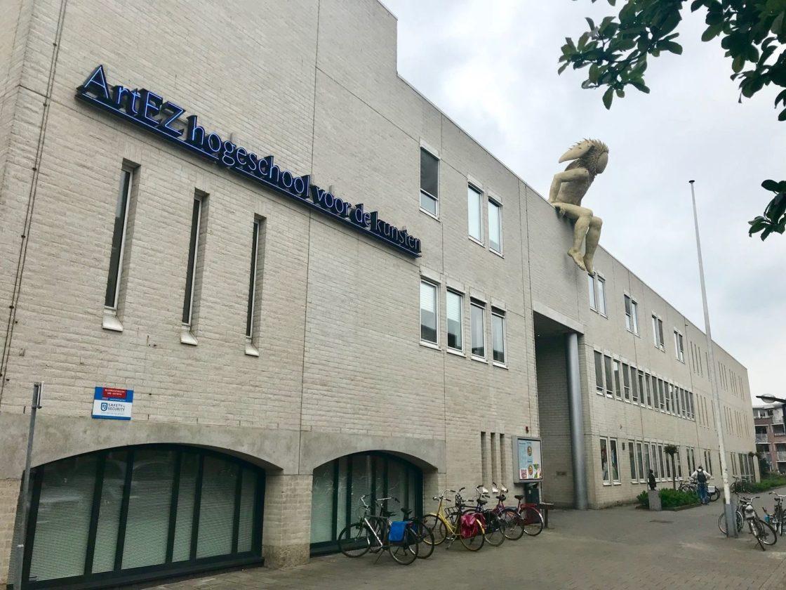 Internet Art EZ Conservatorium Enschede met de muziekgod PAN Foto by Art EZ