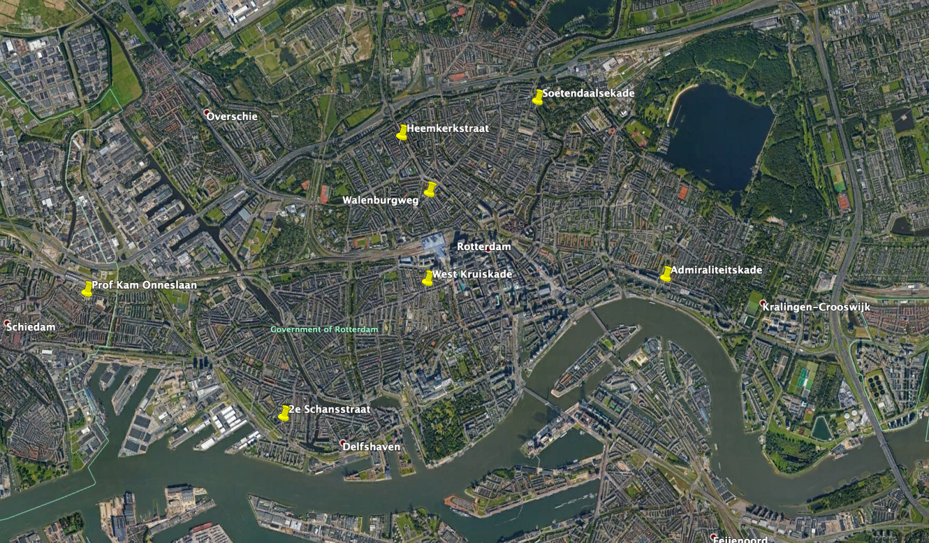 Locations in Rotterdam