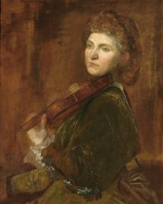Lady Hallé (Woman Playing Violin)