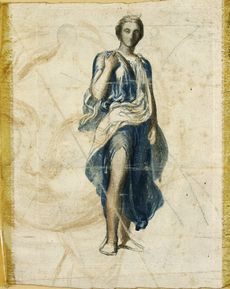 Study of the Figure of Diana for 'Apollo and Diana'