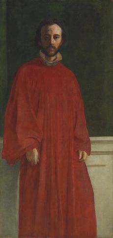 Self Portrait in a red robe