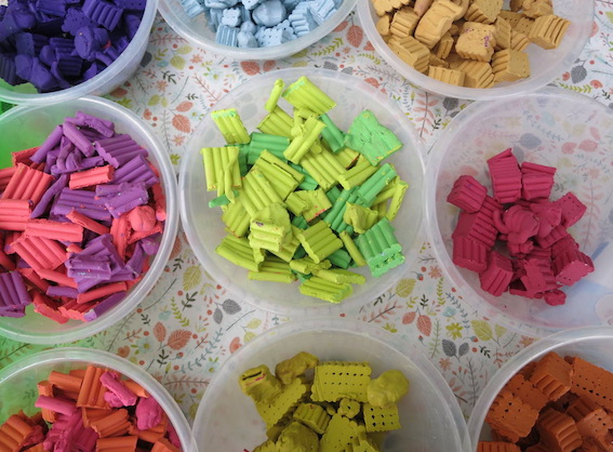 Colourful plasticine to make enchanted realms with