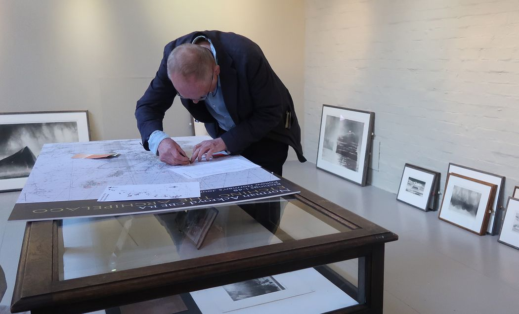 Ackroyd marking the map of the British Isles
