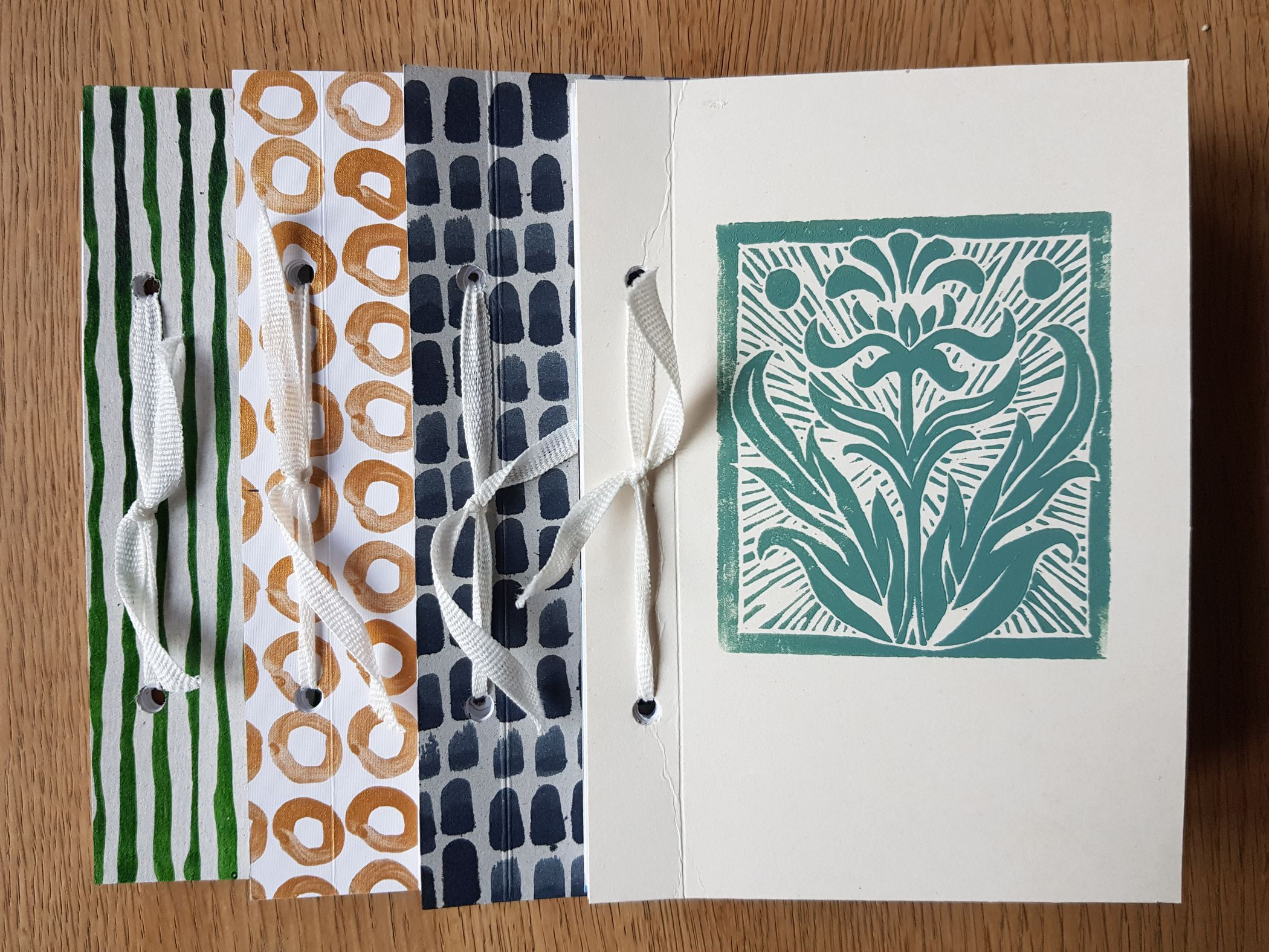 Make a notebook for your artwork or notes.