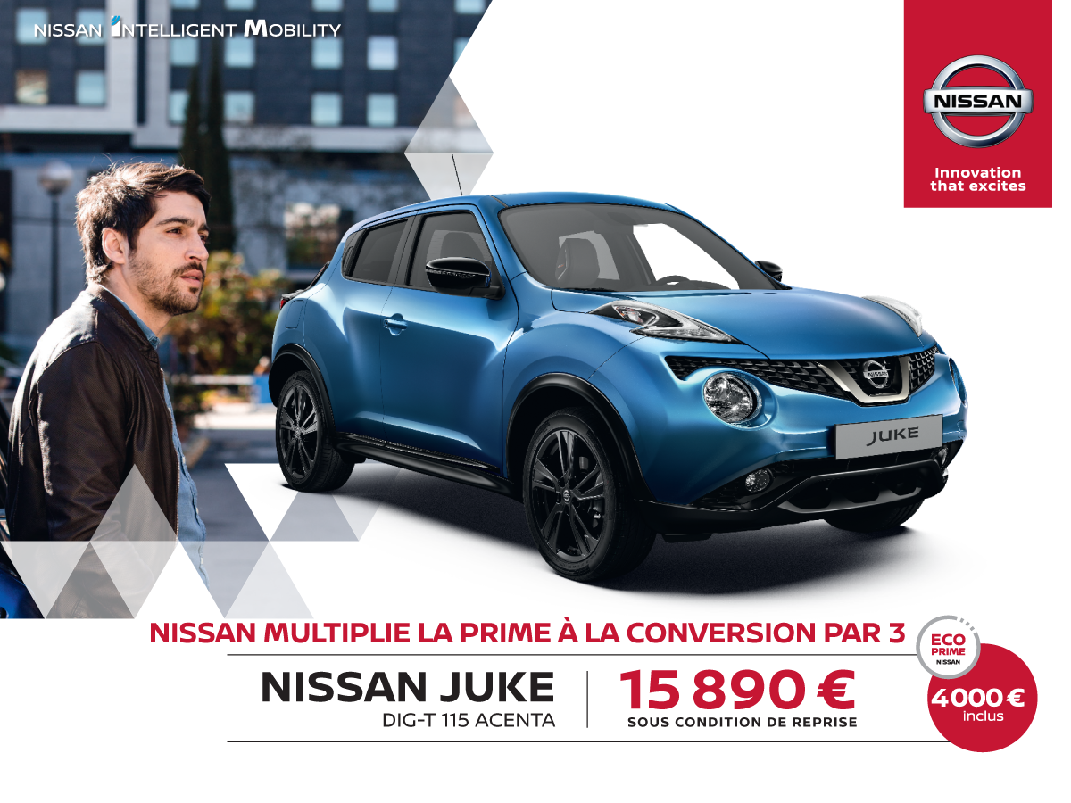 ecoprime nissan juke promotions chez votre concessionnaire nissan valenciennes. Black Bedroom Furniture Sets. Home Design Ideas