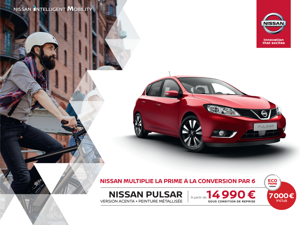 ecoprime nissan pulsar promotions chez votre concessionnaire nissan valenciennes. Black Bedroom Furniture Sets. Home Design Ideas