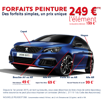 forfait peinture promotions chez votre concessionnaire peugeot saint germain en laye. Black Bedroom Furniture Sets. Home Design Ideas