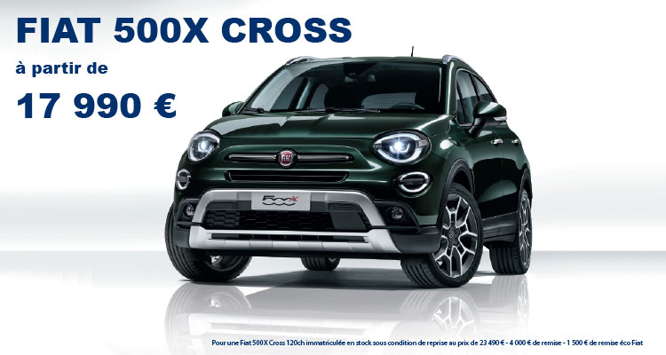 nouvelle fiat 500x promotions chez votre concessionnaire. Black Bedroom Furniture Sets. Home Design Ideas