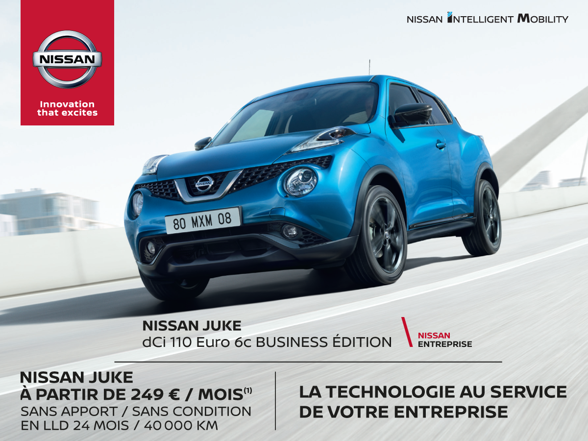 offre business nissan juke promotions chez votre concessionnaire nissan reims. Black Bedroom Furniture Sets. Home Design Ideas