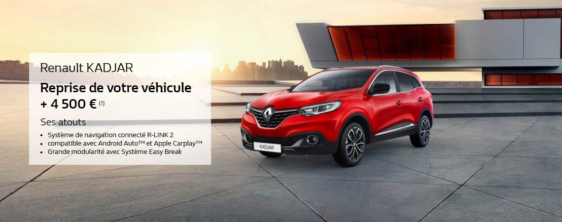 Renault KADJAR Reprise de votre véhicule + 4 500 € (1)   Promotions