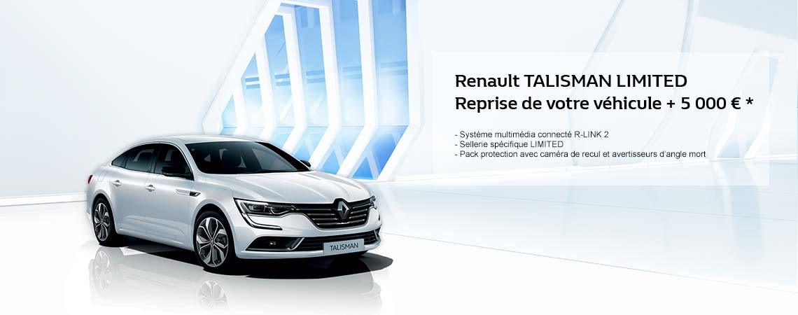 renault talisman limited reprise de votre v hicule 5 000 promotions chez votre. Black Bedroom Furniture Sets. Home Design Ideas