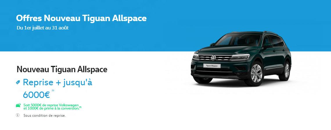 volkswagen nouveau tiguan allspace reprise jusqu 39 6000 1 promotions chez votre. Black Bedroom Furniture Sets. Home Design Ideas