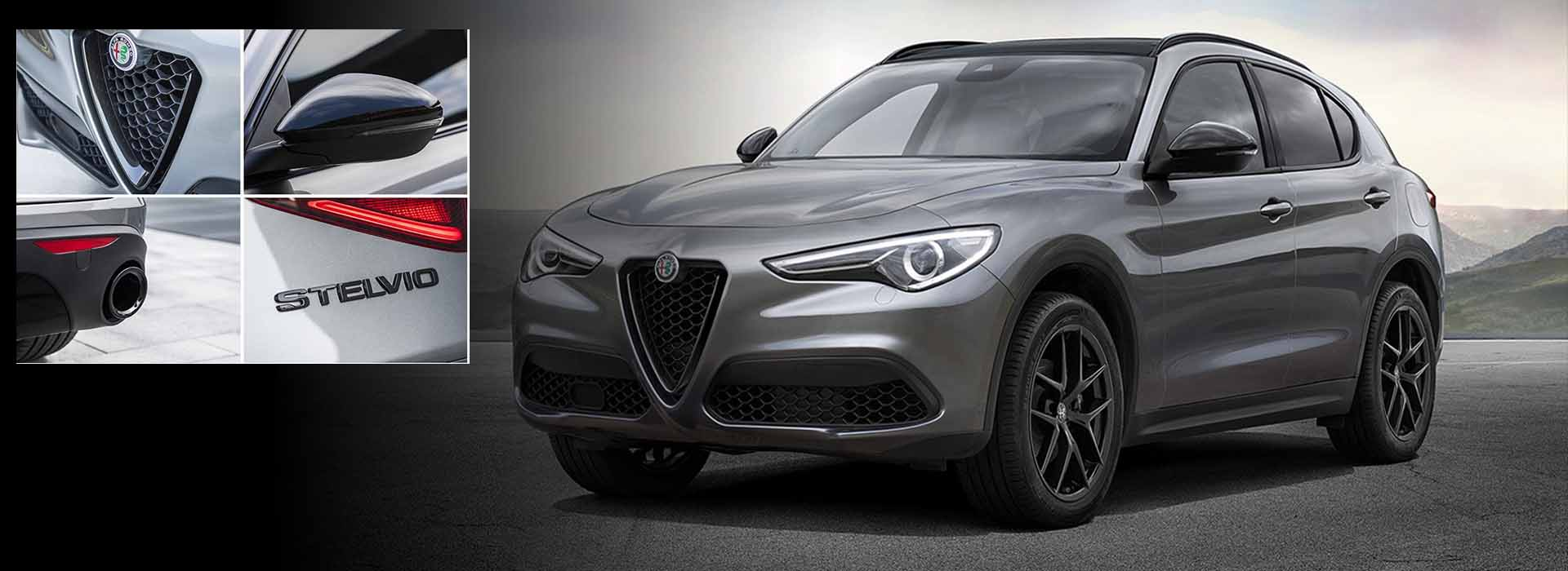 alfa romeo stelvio black pack la squadra veloce fiat alfa romeo montpellier. Black Bedroom Furniture Sets. Home Design Ideas