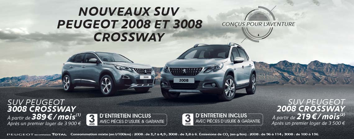 nouveaux suv peugeot 2008 et 3008 crossway peugeot aix en provence gardanne. Black Bedroom Furniture Sets. Home Design Ideas