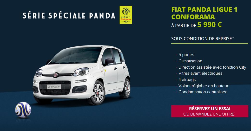 offre fiat panda ligue 1 devis gratuit la squadra veloce fiat alfa romeo montpellier. Black Bedroom Furniture Sets. Home Design Ideas