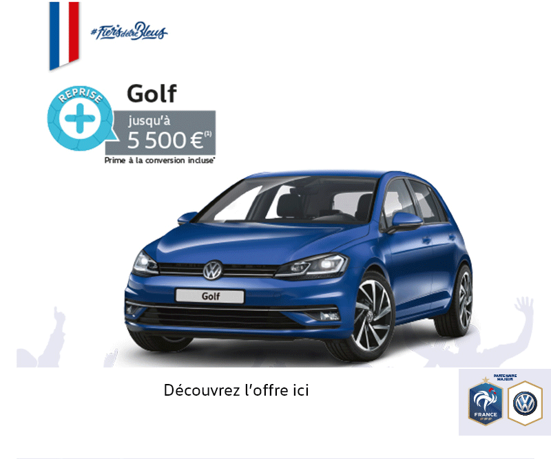 offre vw golf prime la reprise volkswagen saint cloud. Black Bedroom Furniture Sets. Home Design Ideas