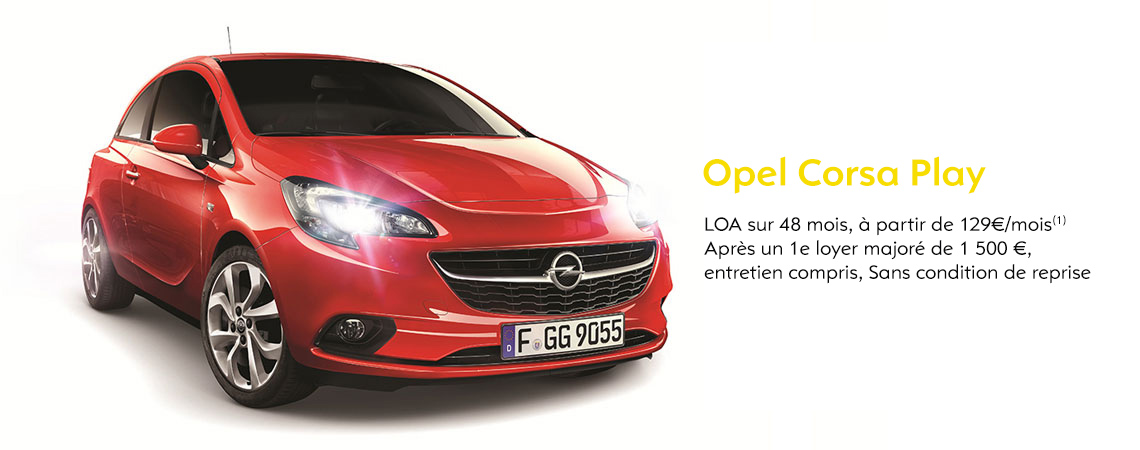 opel corsa play opel niort. Black Bedroom Furniture Sets. Home Design Ideas