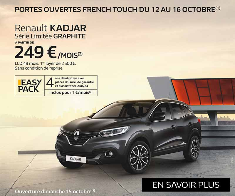 portes ouvertes french touch du 12 au 16 octobre 2017 renault dinan. Black Bedroom Furniture Sets. Home Design Ideas