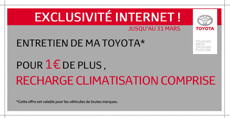 r vision et recharge climatisation toyota chartres. Black Bedroom Furniture Sets. Home Design Ideas