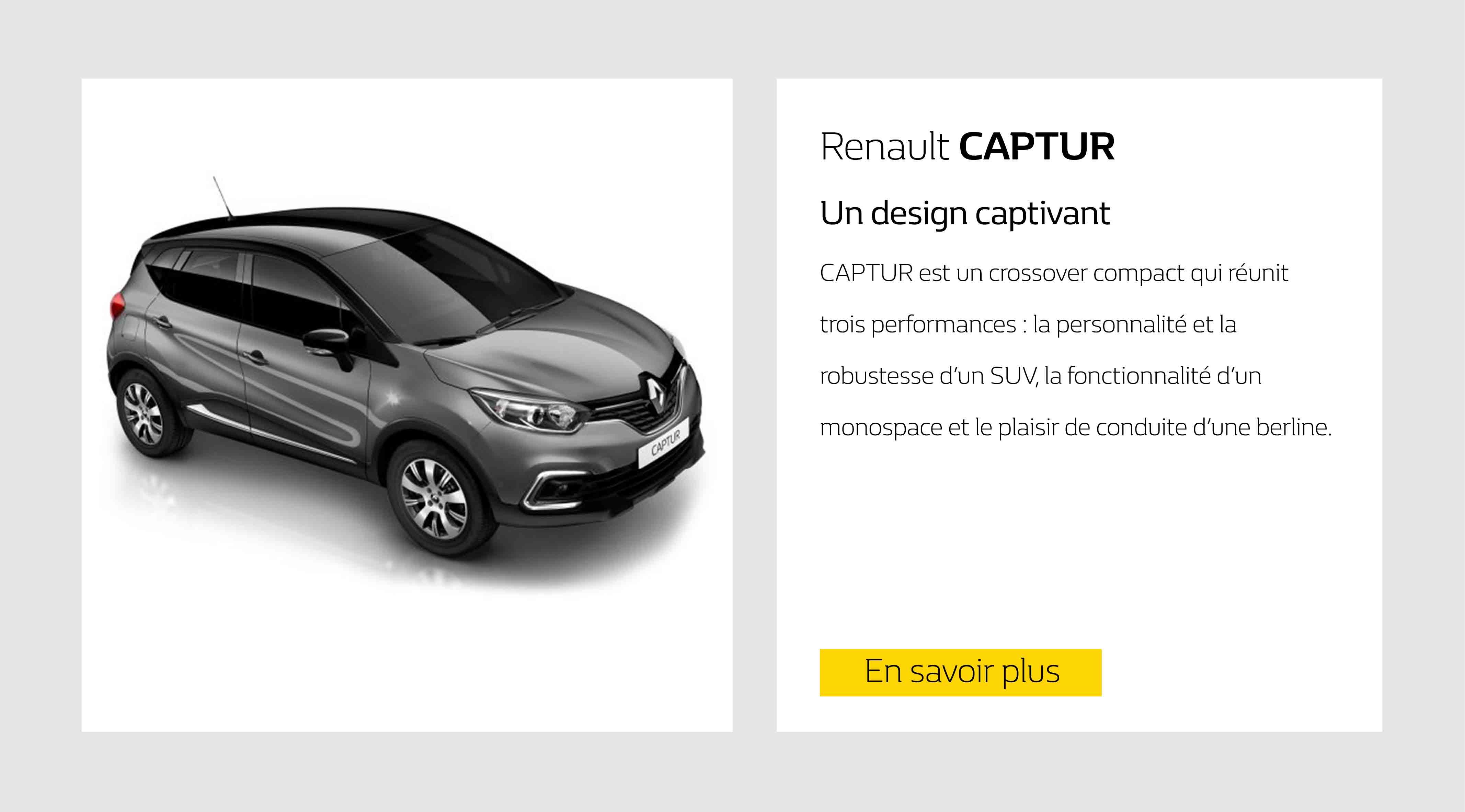 Catalogue voitures neuves Renault KADJAR BUSINESS,CLIO IV ESTATE ...